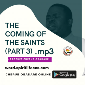 The Coming Of The Saints Part 3 by Prophet Cherub Obadare